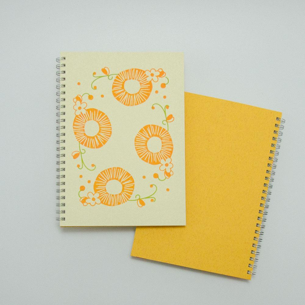 こだわりのリングノート。私だけのオリジナルデザインノート。DAIDAI・橙色。