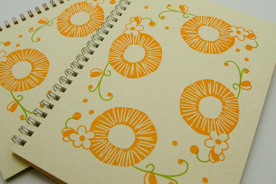 こだわりのリングノート。オリジナルノート。橙をイメージ。