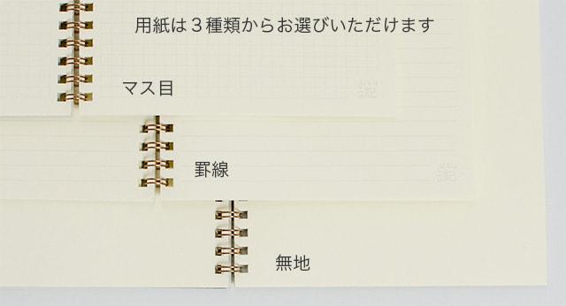 オーダーノートの用紙の種類